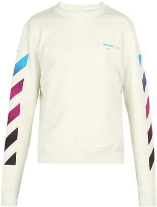 Off-White Diagonal gradient print cotton-jersey sweatshirt
