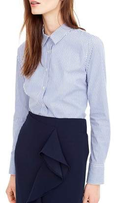 J.Crew J. CREW Classic Stripe Stretch Perfect Cotton Shirt