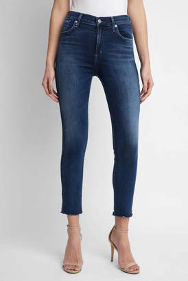 A Gold E Agolde AGOLDE Sophie Crop In Claremont Skinny Jean