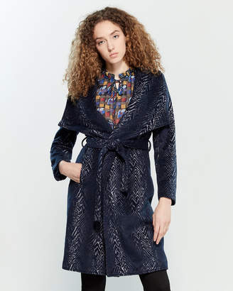Yumi Animal-Inspired Wrap Coat