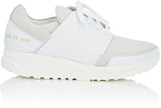 Common Projects Women's Track Suede & Leather Sneakers $530 thestylecure.com