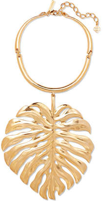 Monstera Leaf Gold-plated Necklace