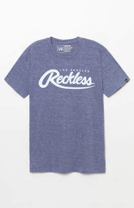 Young & Reckless Big R Script Heather Navy T-Shirt