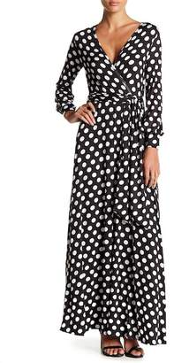 American Twist Long Sleeve Surplice Maxi Dress
