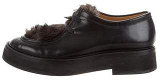 Paul Smith Byron Fur-Trimmed Oxfords