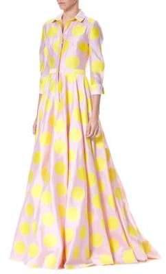 Carolina Herrera Polka Dot Trench Gown