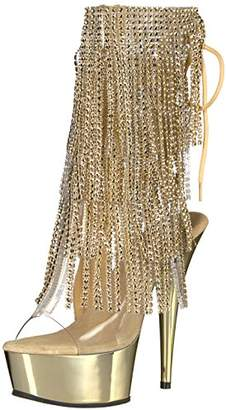 Pleaser USA Women's Del1017rsf/c-g/gch Ankle Bootie Clr Gold Chrome, 7 M US