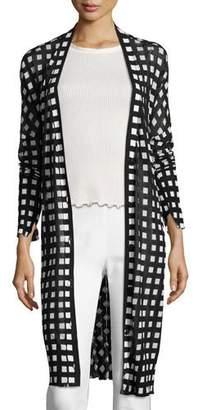 Rag & Bone Michaela Printed Robe Cardigan, Black/White