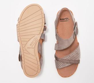 Earth Leather Sandal with Buckle - Linden Laguna