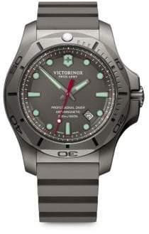 Victorinox I.N.O.X. Professional Diver Sandblasted Titanium Rubber Strap Watch