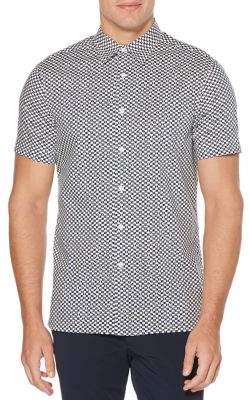 Perry Ellis Stretch Mini-Geo Print Shirt