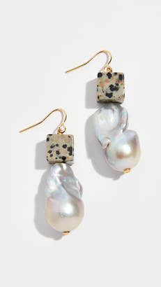 Tory Burch Baroque Pearl & Bead Drop Earrings