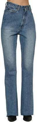 Facetasm Twisted High Rise Flared Denim Jeans