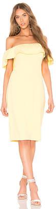 1 STATE Off Shoulder Midi Bodycon Dress