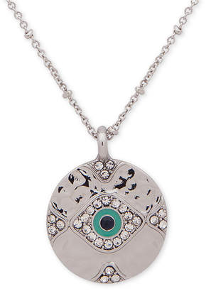 """lonna & lilly Silver-Tone Crystal Evil Eye Pendant Necklace, 28"""" + 3"""" extender"""