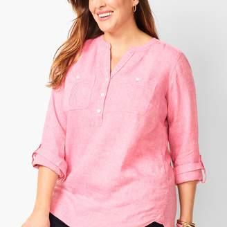 Talbots Linen Camp Shirt - Cross Dyed