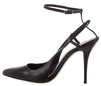Alexander Wang Ankle Strap Pointed-Toe Pumps