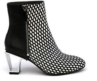 United Nude Women's Icon Boot Mid Fashion White Mix/Black