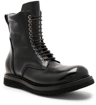 Rick Owens Leather Low Army Boots