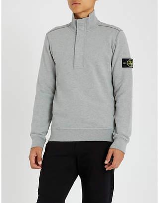 Stone Island Half-zip cotton-jersey sweatshirt