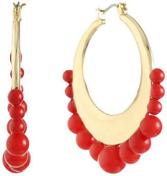 Liz Claiborne Orange 45mm Hoop Earrings