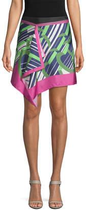 Carven Silk Drape Skirt