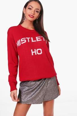 boohoo Christmas Mistlehoe Jumper