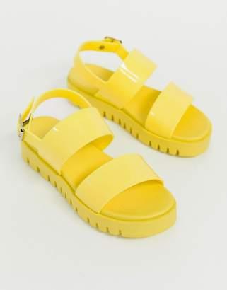 b2813596346b Asos Design DESIGN Fadey chunky jelly flat sandals