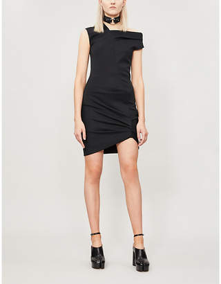 Helmut Lang Asymmetric Woven Mini Dress