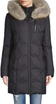 Soia & Kyo Coyote Fur-Trimmed Puffer Coat