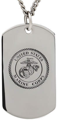 FINE JEWELRY Marine Corps Sterling Silver Dog Tag Pendant Necklace