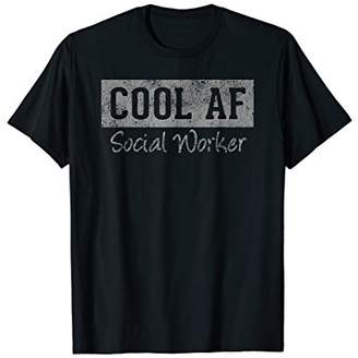Original Cool AF Social Worker Retro T-Shirt