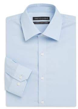 Saks Fifth Avenue Trim-Fit Solid Stretch-Cotton Dress Shirt
