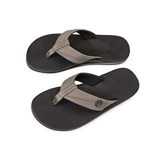 95b013f75b10 Volcom Men s Lounger Memory Foam Flip Flop Sandal