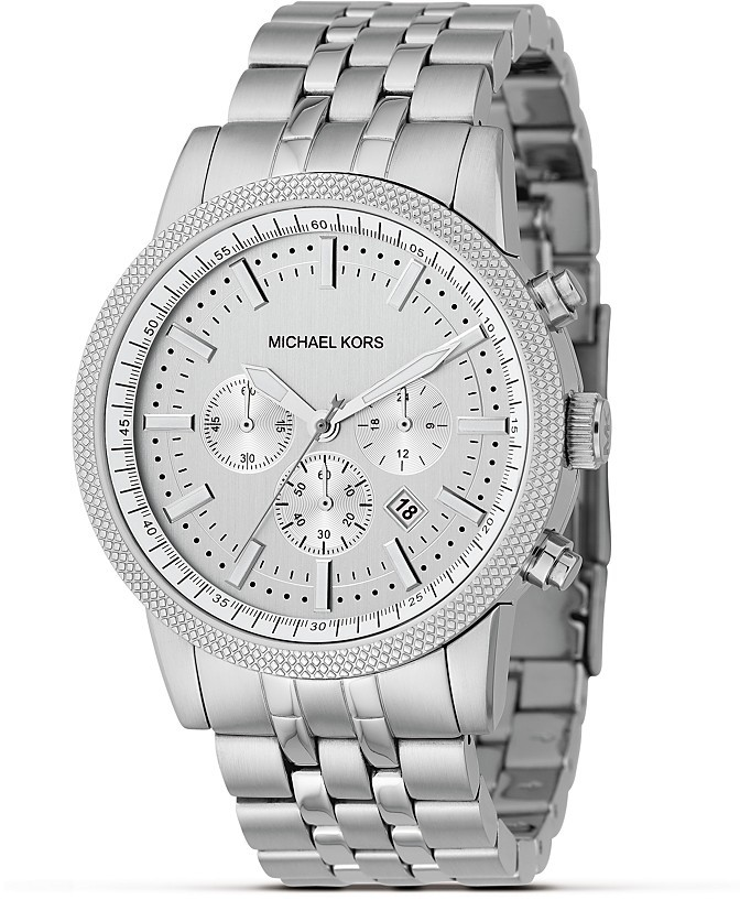 MICHAEL Michael Kors Stainless Steel Knurled Topring Watch 38MM