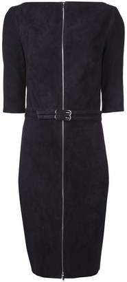 Jitrois velvet belted zip front dress