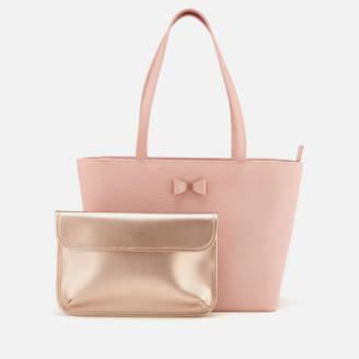 Ted Baker Women's Deanie Bow Detail Small Shopper Bag - Light Pink