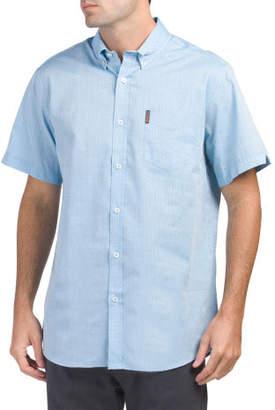 Short Sleeve Dot Dobby Shirt
