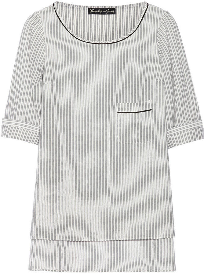 Elizabeth and James Gilles striped cotton top