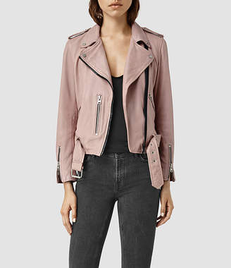 AllSaints Wyatt Zip Leather Biker Jacket