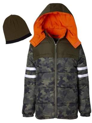 iXtreme Camo Puffer Jacket with Free Gift Accesory (Little Boys & Big Boys)