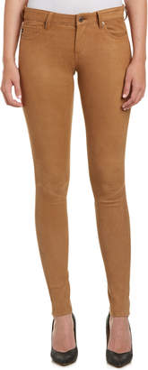 AG Jeans The Legging Camel Suede Super Skinny Leg