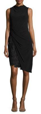 Vera Wang Mock Lace Dress $248 thestylecure.com