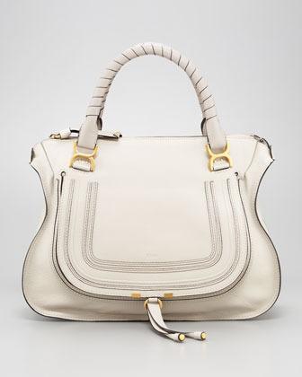 Chloe Marcie Large Shoulder Bag, Dove