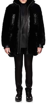Givenchy Men's Leather-Trimmed Shearling Coat