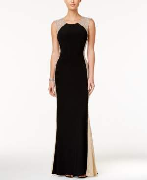 Xscape Evenings Rhinestone Illusion Gown