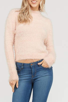 Love Tree Fuzzy Crop Sweater