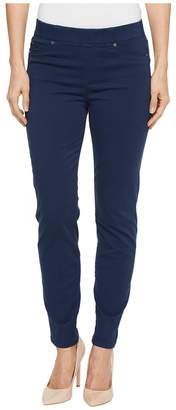 Liverpool Chloe Ankle Pull-On Leggings in Stretch Peached Satin in Dress Blues Women's Casual Pants