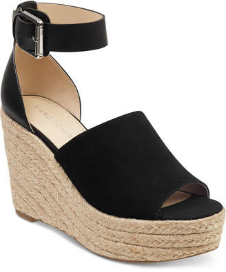 9bca6ebe165c Marc Fisher Black Platform Wedge Women s Sandals - ShopStyle