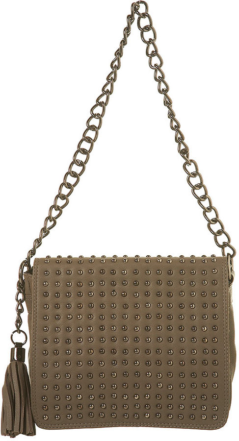 Leather Stud Shoulder Bag